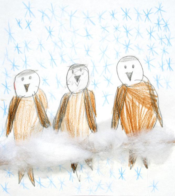 Spatzen im Schnee von Oliver (7)