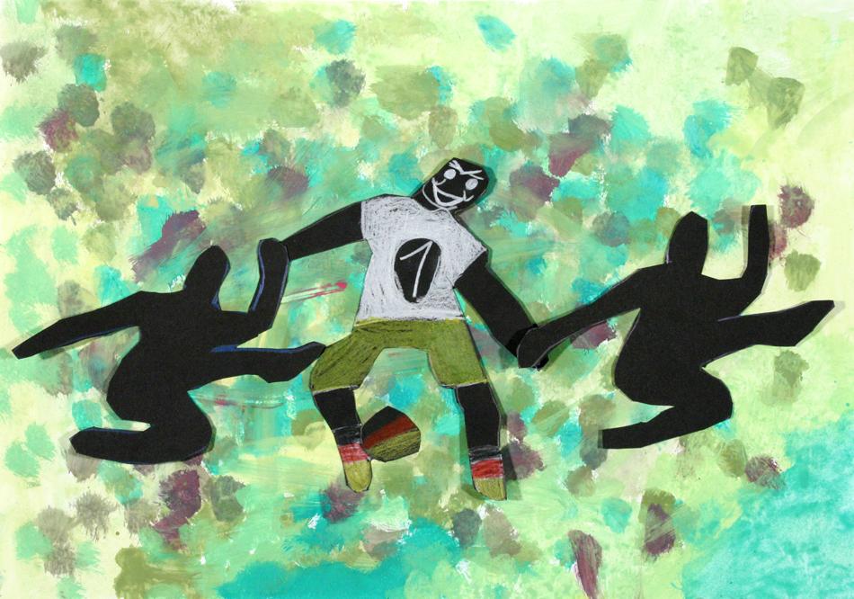 Fußball in Aktion von Sandra (8)