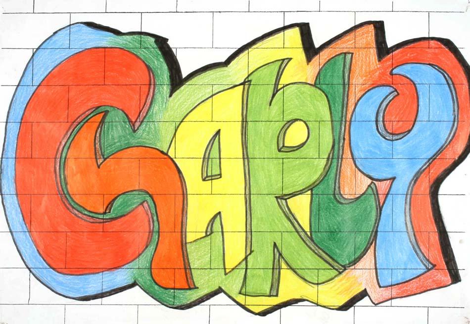 Graffiti mit dem eigenen Namen von Charlotte (14)