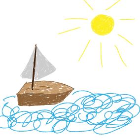 War einst ein kleines Segelschiffchen