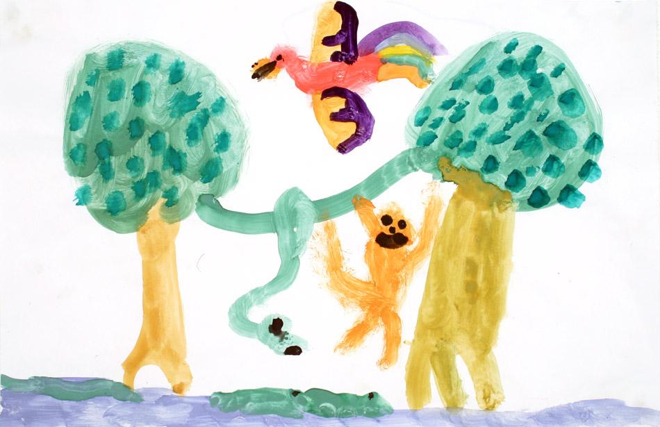 Urvogel mit Affe und Schlange von Julian (6)