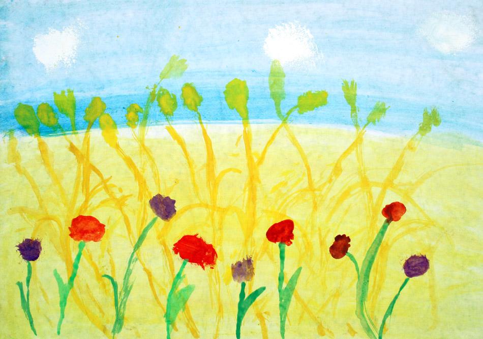 Getreide mit Feldblumen von Leonie (8)