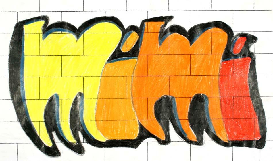 Graffiti mit dem eigenen Namen von Miriam (14)