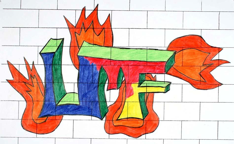 Graffiti mit dem eigenen Namen von Ulf (14)