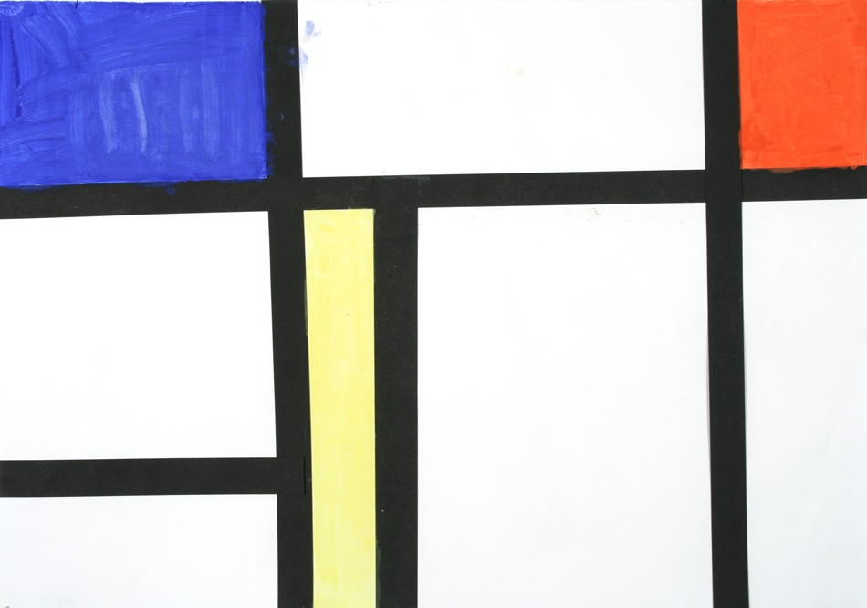 Malen wie Mondrian von Anna (9)