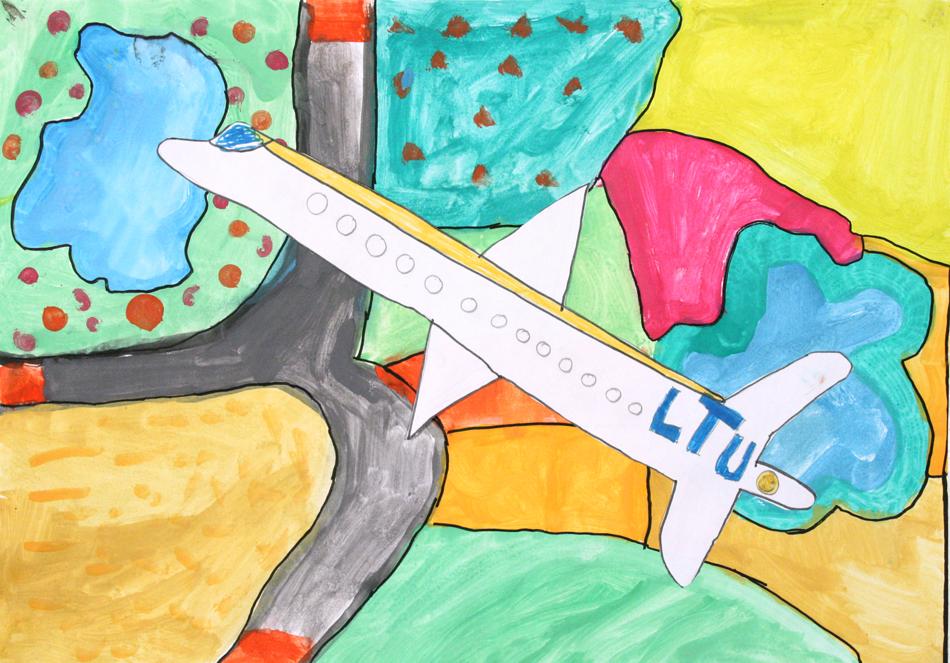Flugzeug von oben  von Melisa (9)