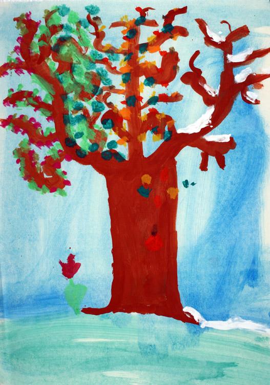 Vier-Jahreszeiten-Baum von Antonia (7)