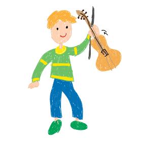 Viola, Bass und Geigen