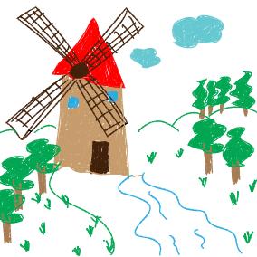 Seht die Mühle