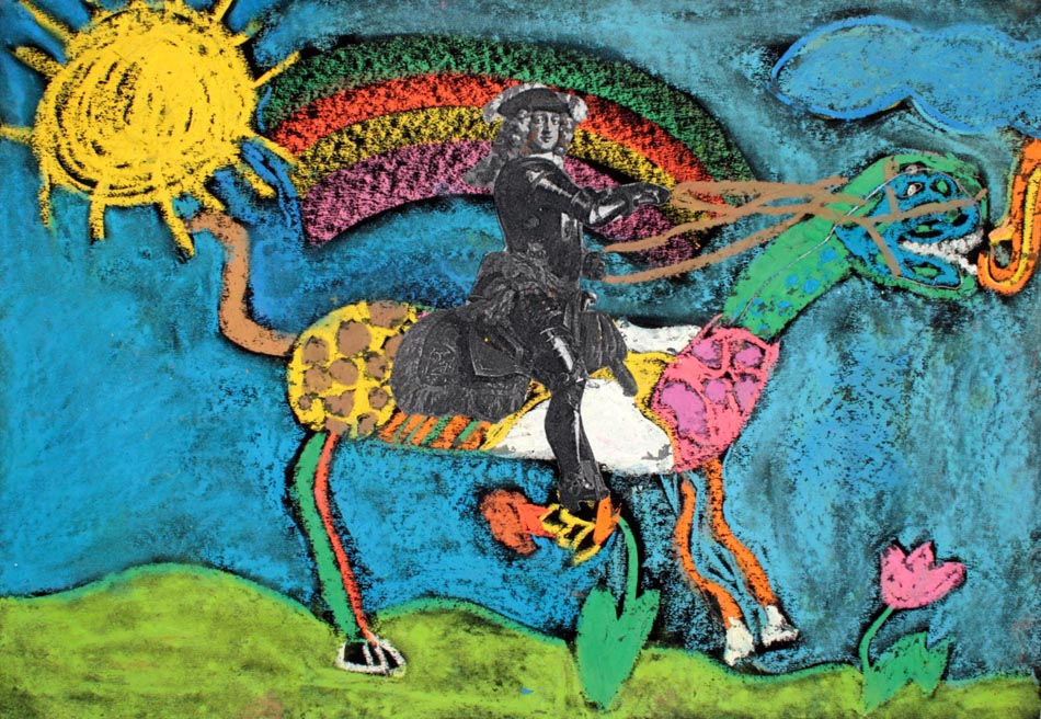 Jan Wellem reitet auf Phantasietier von Katharina (9)