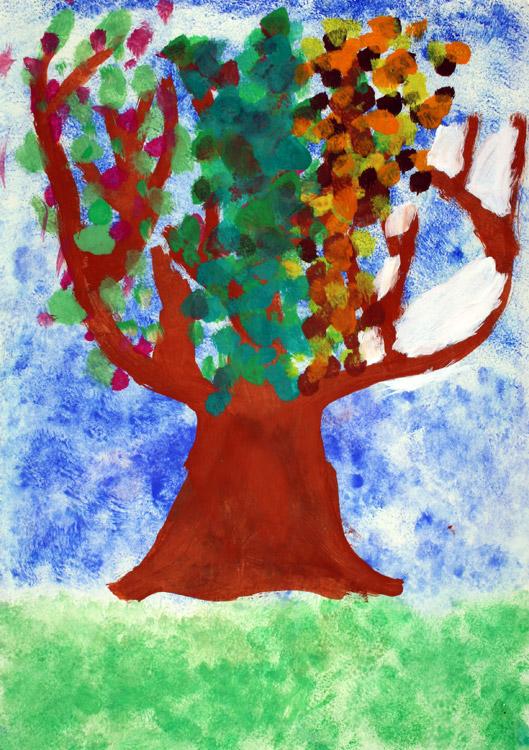 Vier-Jahreszeiten-Baum von Yvonne (7)
