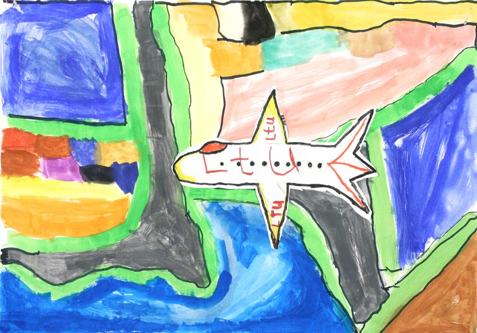 Flugzeug von oben  von Hamza (10)
