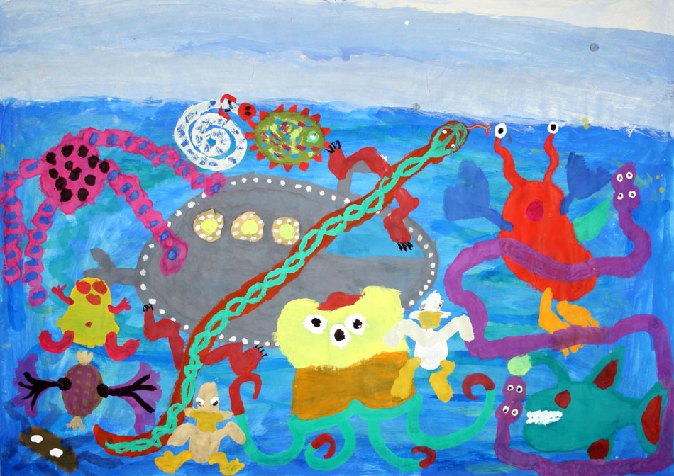 Am Nordpol - unter Wasser von Elisa und Amani (10)