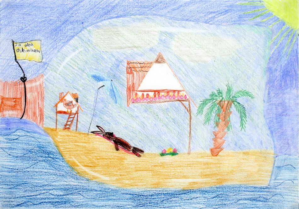 Ein Hase macht vergnügliche Ferien in der Flaschenpost von Jaqueline (11)