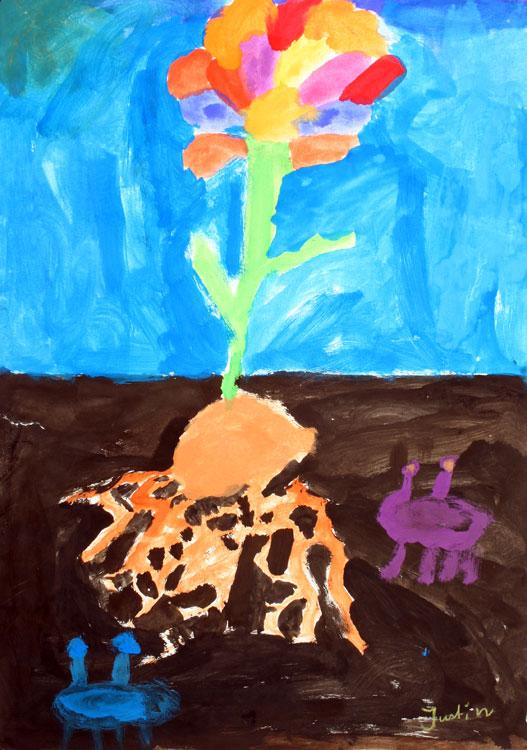 Pflanze über und unter der Erde von Justin (7)