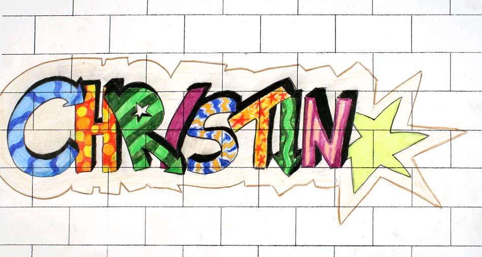 Graffiti mit dem eigenen Namen von Christin (14)