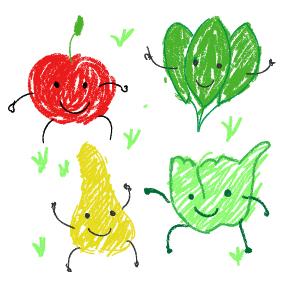 Äpfel, Birnen und Spinat