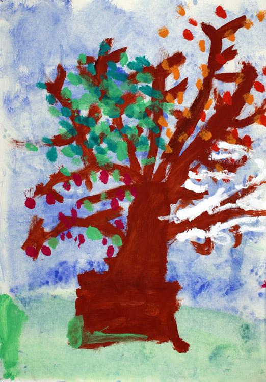 Vier-Jahreszeiten-Baum von Carl (7)