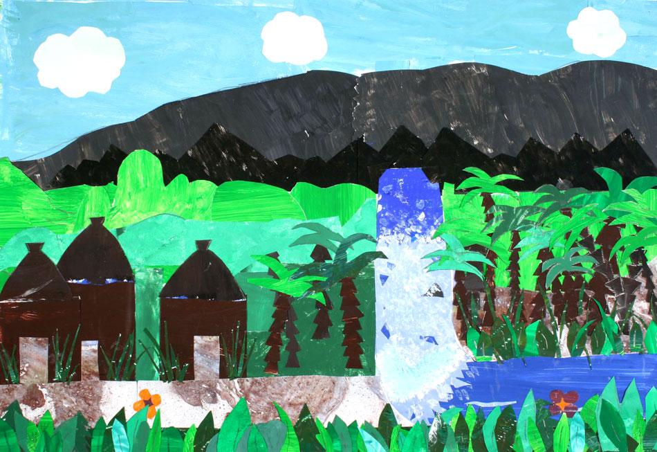 Afrikanische Flusslandschaft von Anna-Lena und Sophie (12)