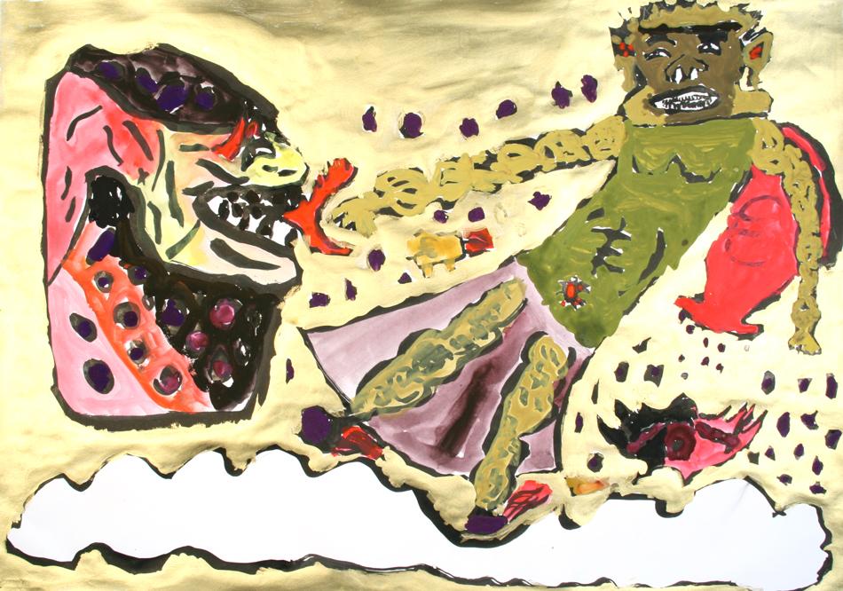 Traditionelle japanische Gottheit von Daiki (11)