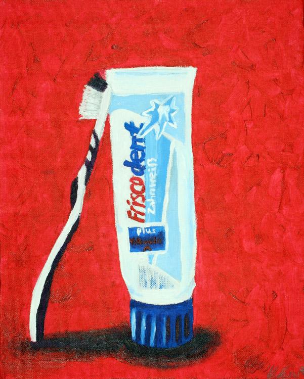 Zahnbürste mit Zahnpasta von Veronika (15)