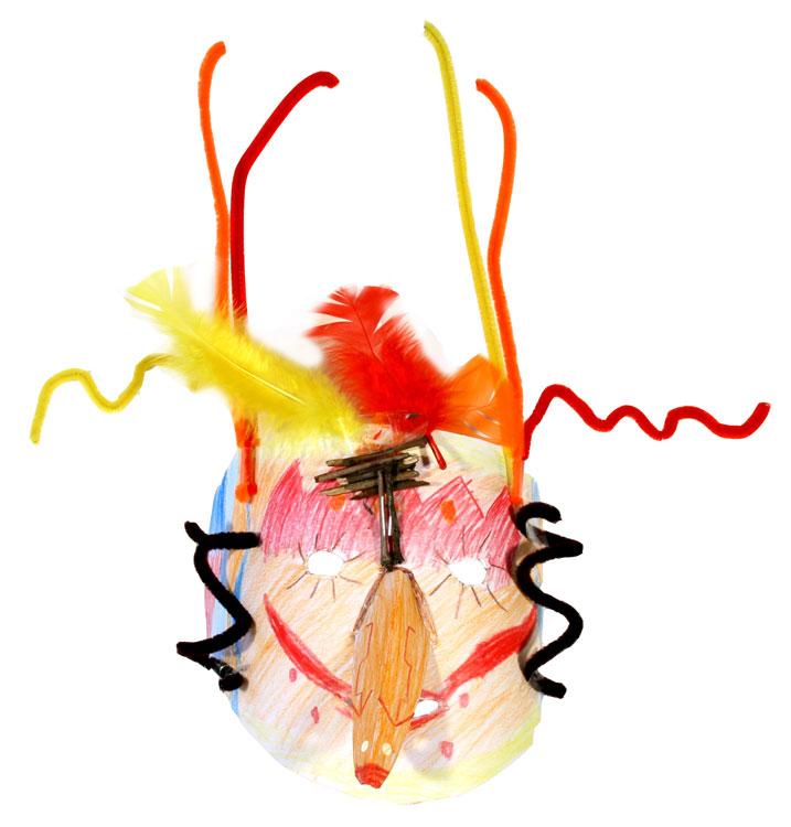 Afrikanische Maske von Sebastian (9)