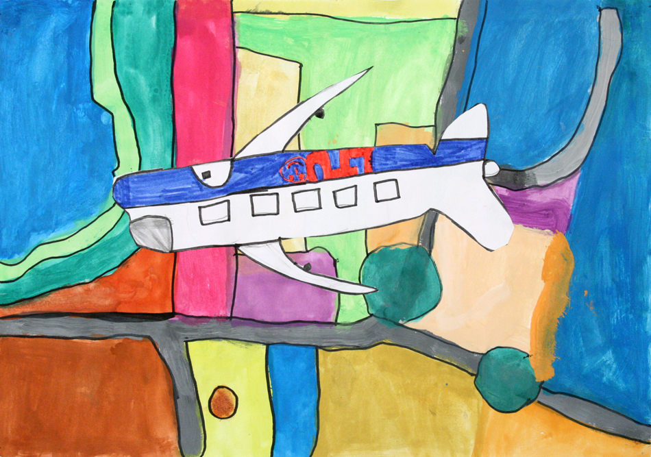 Flugzeug von oben  von Sophie (9)