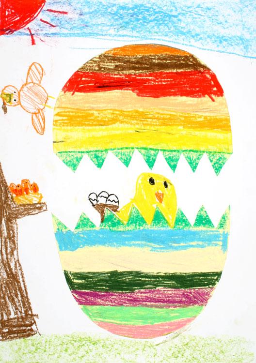 Ein Küken kommt aus dem Ei von Maiko (7)