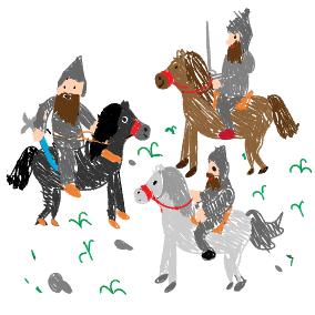 Es ritten drei Reiter zum Tore hinaus