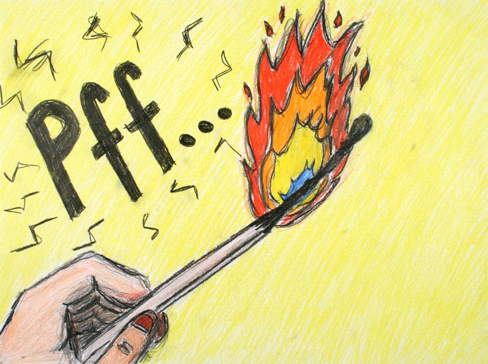 Brennendes Streichholz von Pia (13)