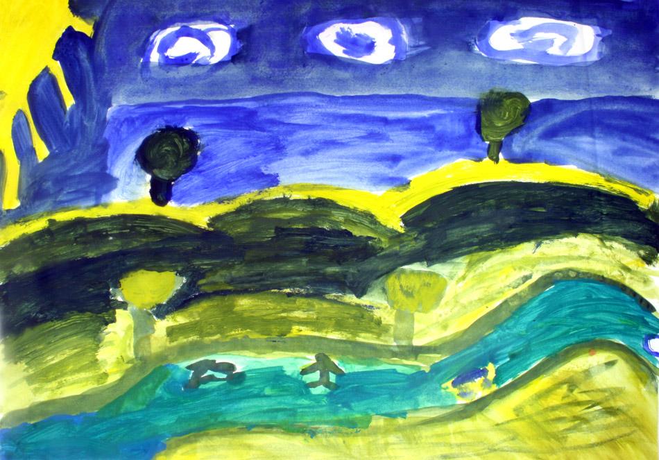 Landschaft mit Schönwetterwolken von Katrin (9)