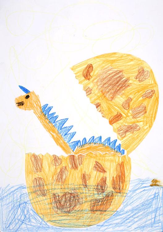 Ein Dino kommt aus dem Ei von Luis (7)