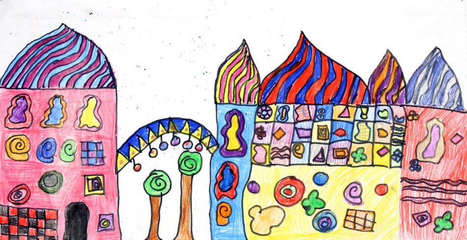 Hundertwasserhaus von Verena (8)