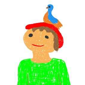 Auf einem Baum ein Kuckuck saß