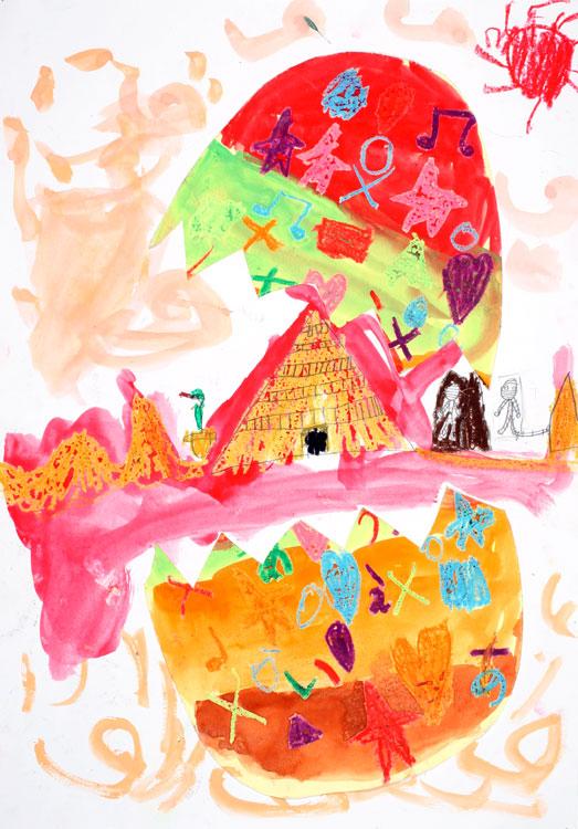 Eine Pyramide kommt aus dem Ei von Rito (7)