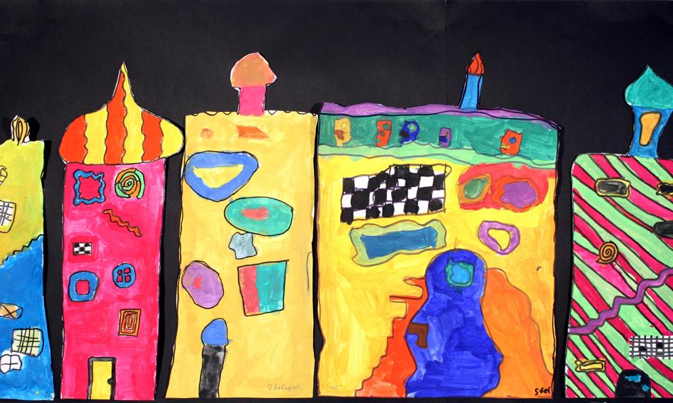 Hundertwasser- Häuser von Gemeinschafts- arbeit (9)