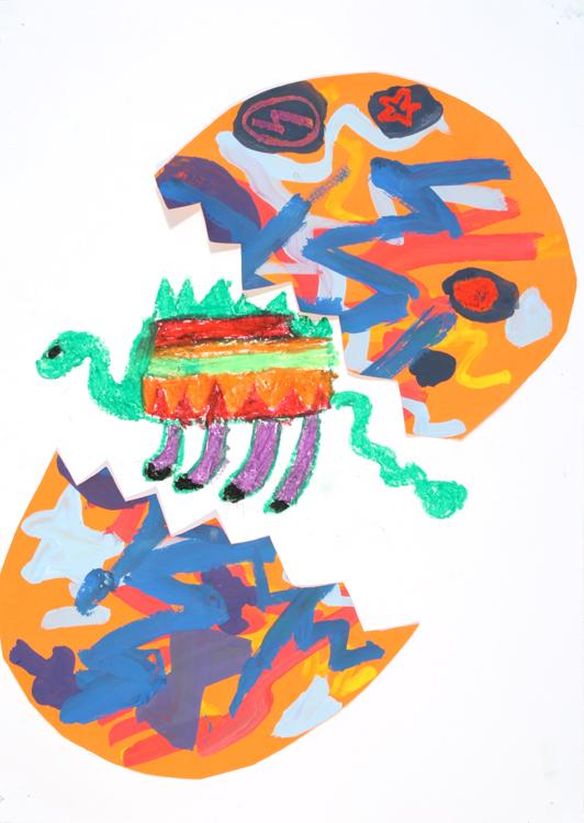 Ein Dino kommt aus dem Ei von Mohito (8)