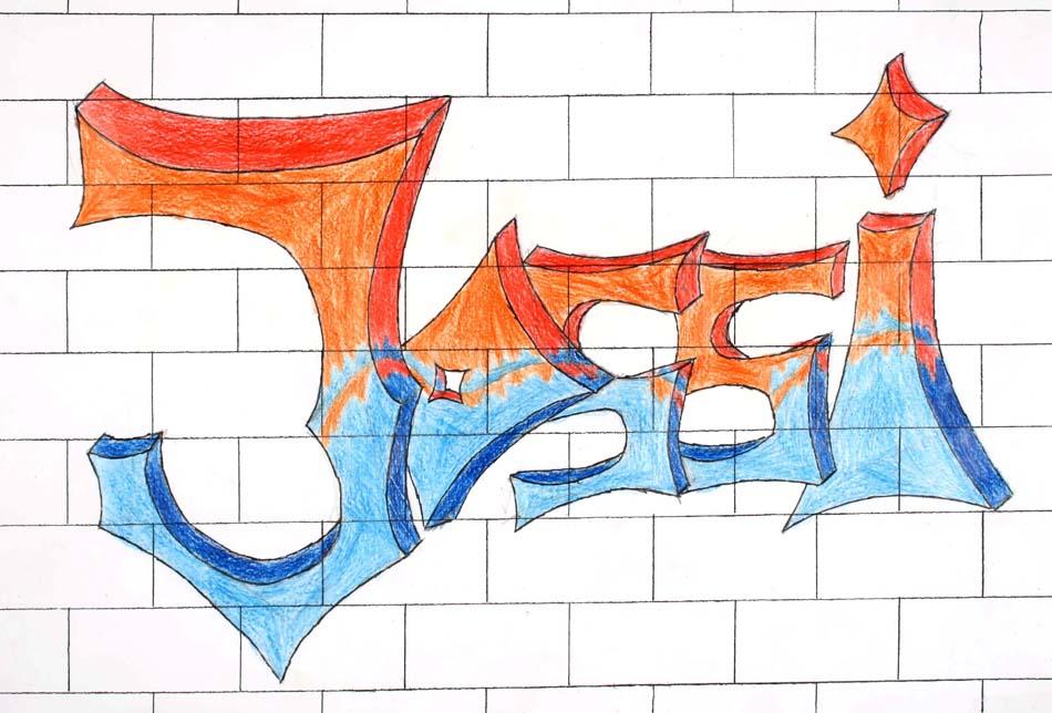 Graffiti mit dem eigenen Namen von Joseph (14)