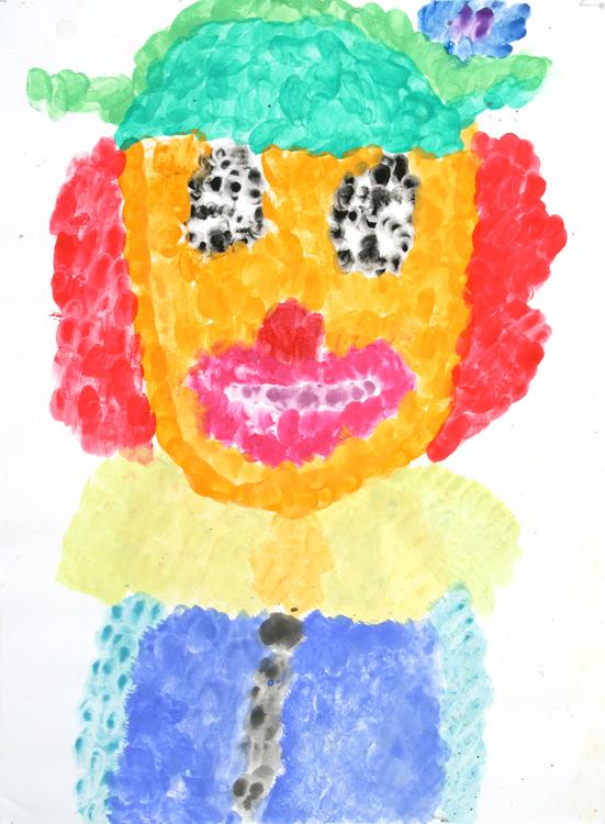 Clowngesicht von Dina (9)