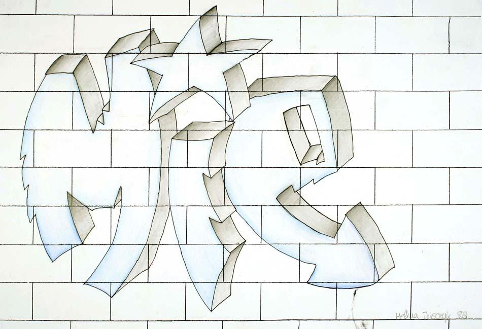 Graffiti mit dem eigenen Namen von Melina (14)