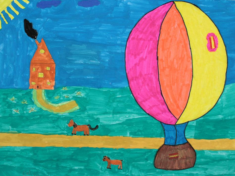 Fahrt mit dem Heißluftballon von Celina (9)