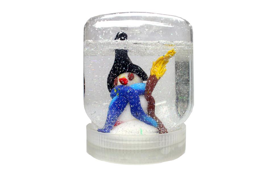 Schneeglas mit Schneemann von Kim (7)