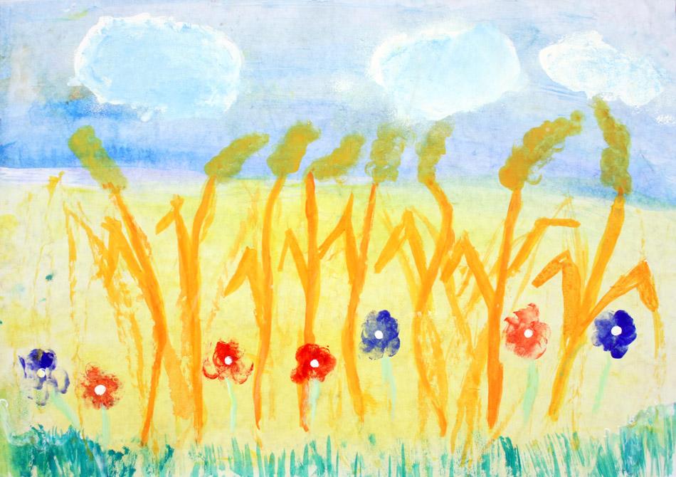 Getreide mit Feldblumen von Louis (8)