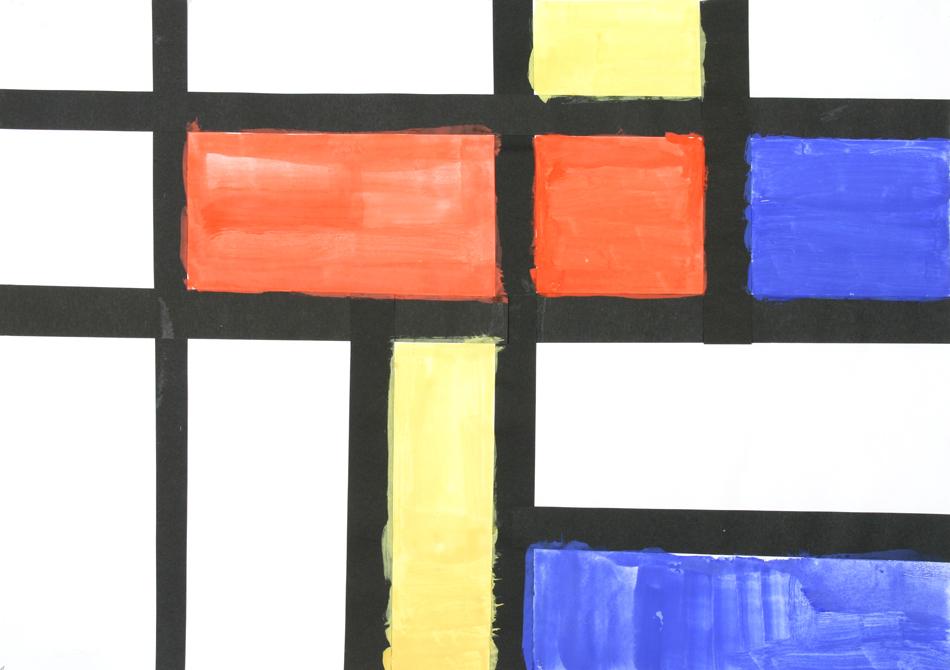 Malen wie Mondrian von Yvonne (9)