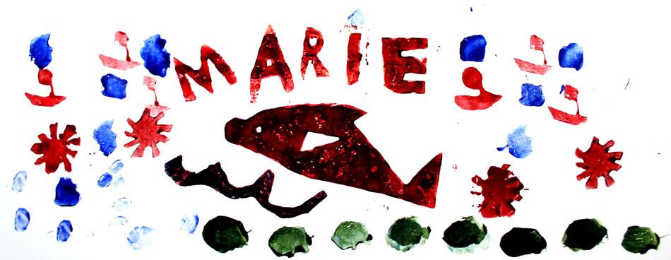 Fensterbild mit Name und Symbolen von Marie (8)