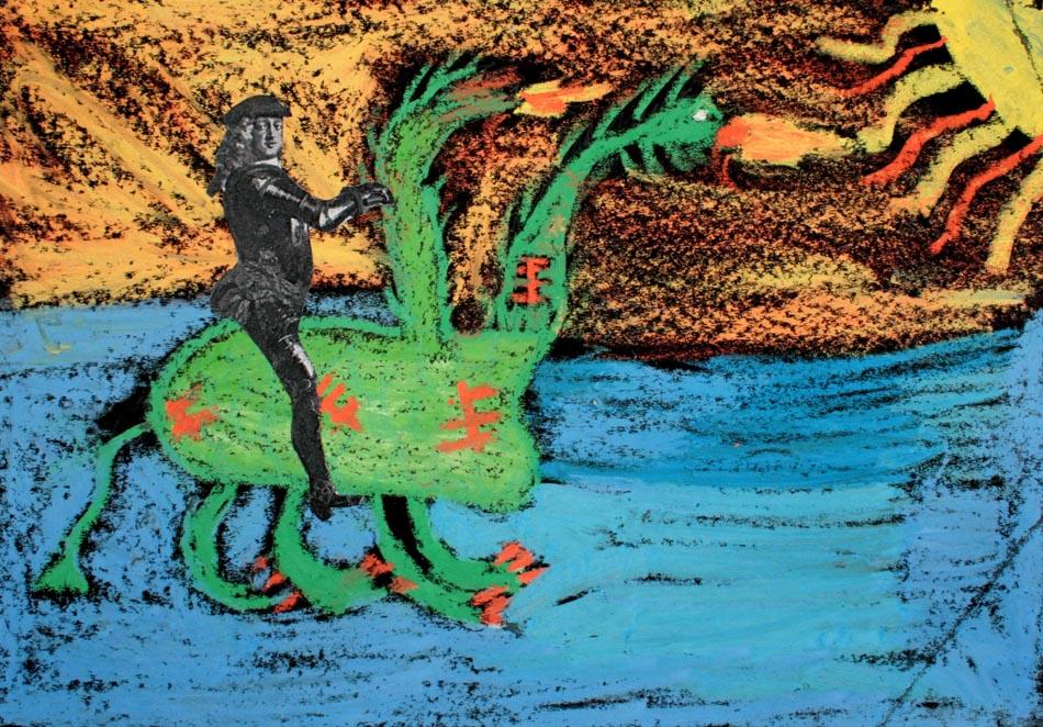 Jan Wellem reitet auf Phantasietier von Paul (9)
