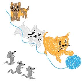 Leise wie die Kätzchen schleichen