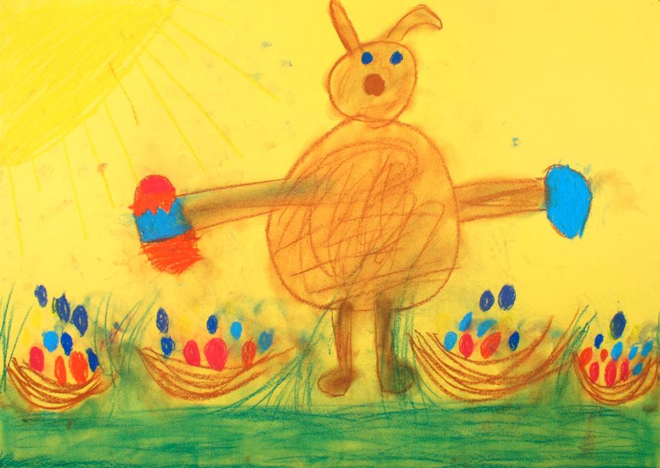 Osterhase mit Eiern von Karolina (7)