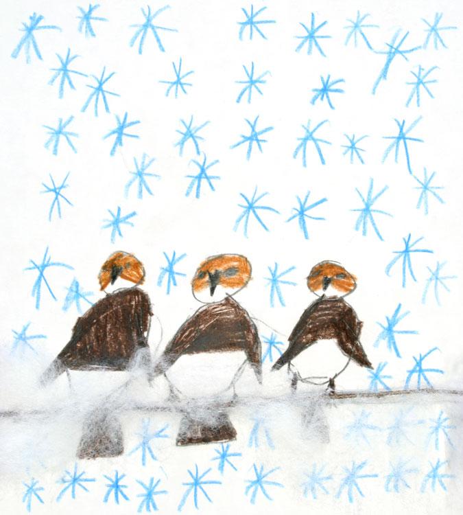 Spatzen im Schnee von Philipp (8)