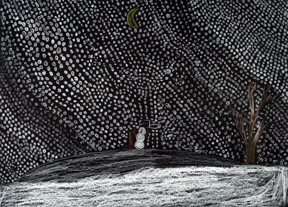 Schneemann im Schnee von Mathis (9)